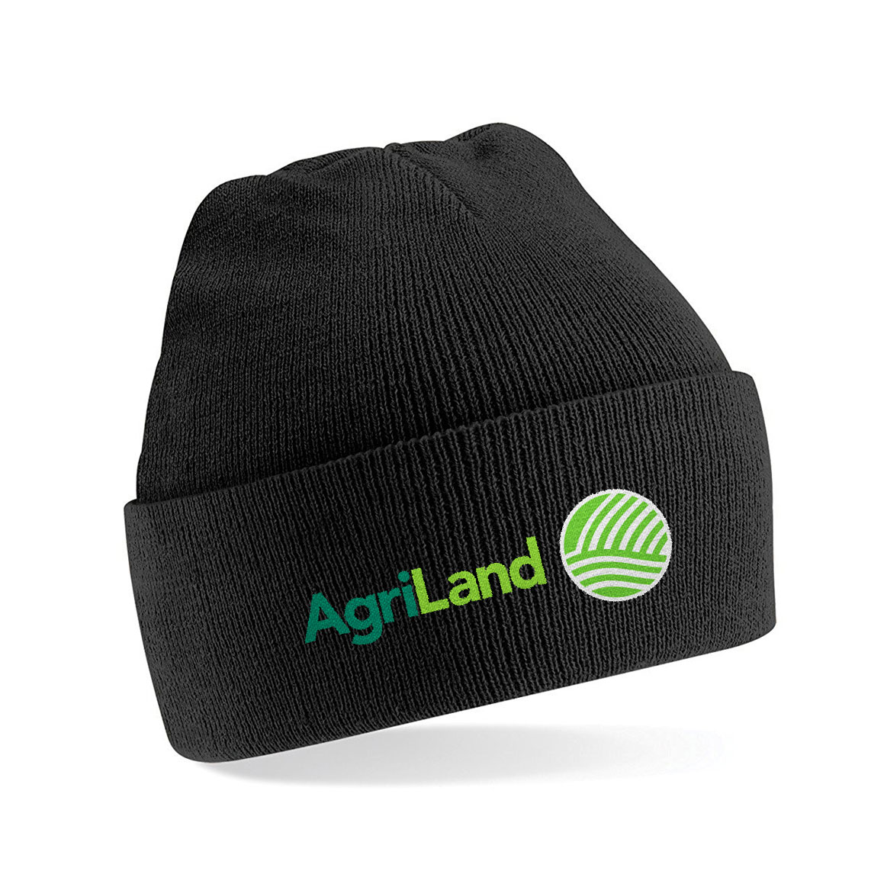 04b0ae42fb6 Agriland Black Beanie Hat - Agriretailer