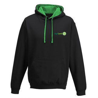 b68e5742a19 Agriland Black and Green Hoodie - Agriretailer